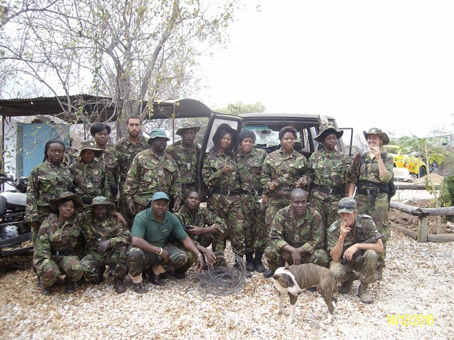 Black Mambas Women Anti-poaching Unit - women-with-team