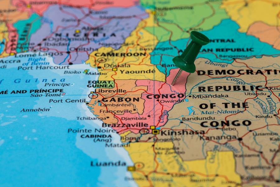 African Greys - congo-map