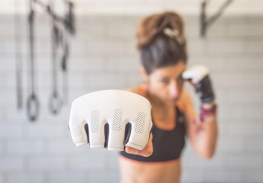Power - female-boxer-punching-forward