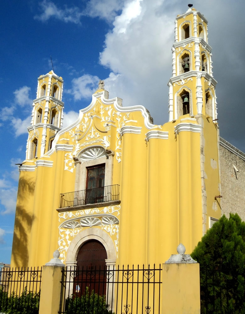 Thanksgiving in Mexico - yellow-church-mexico