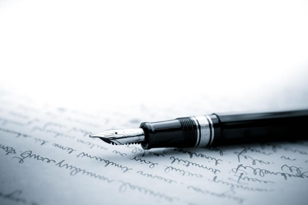 Words Matter - pen on paper