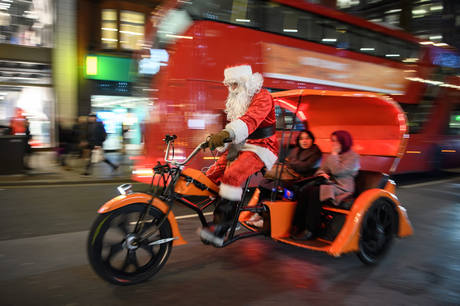 News - santa on a motorbike