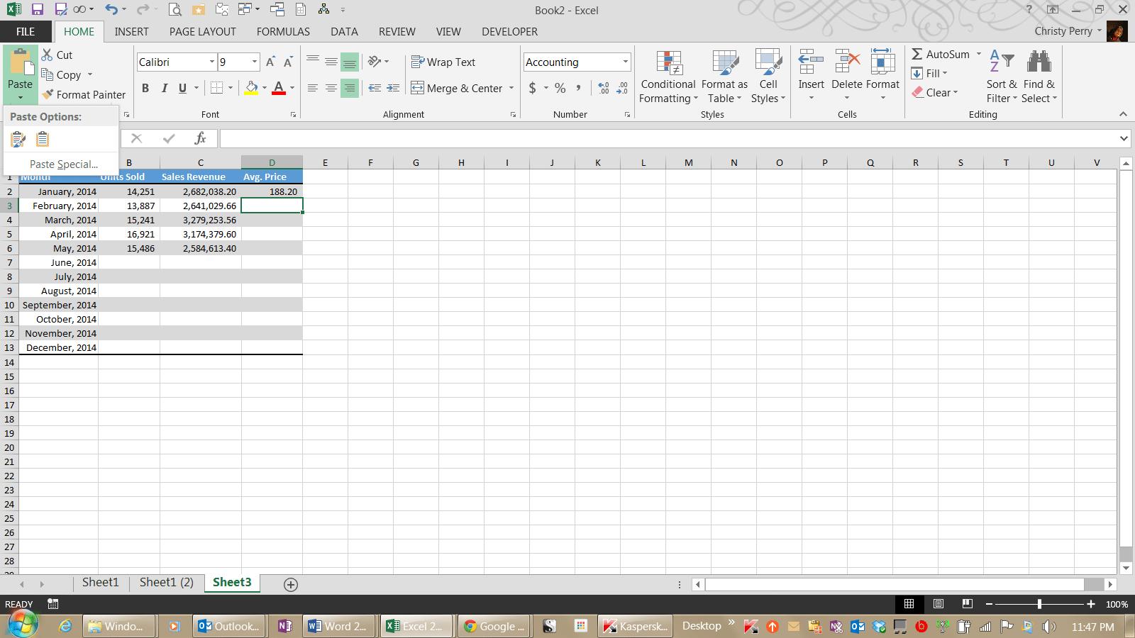 Copy Excel Formulas Down To Fill A Column