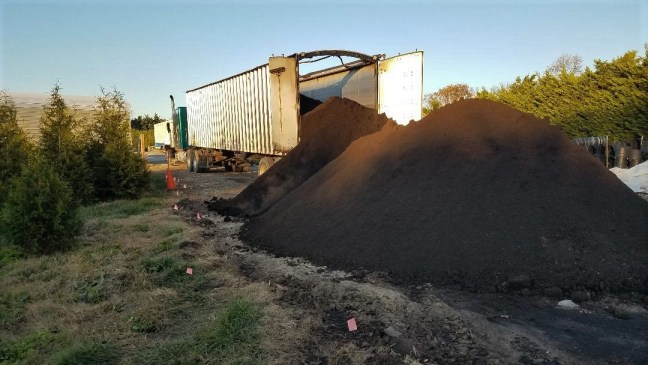 Organic Mulch delivery to the farm