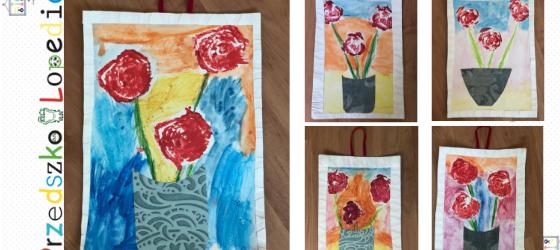 Dekoracyjny obraz – dziecięcymi rękami