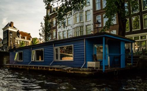 Amsterdam - domy na wodzie