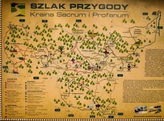 Główny Szlak Świętokrzyski - mapa