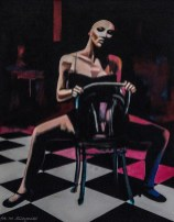 obraz kobieta na krześle