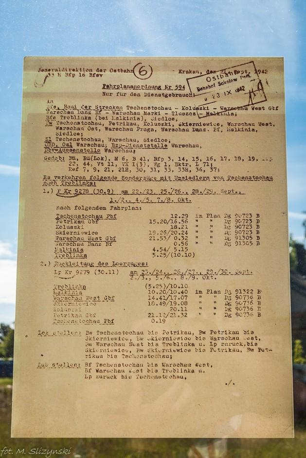Częstochowa - lista wywiezionych do Treblinki Żydów