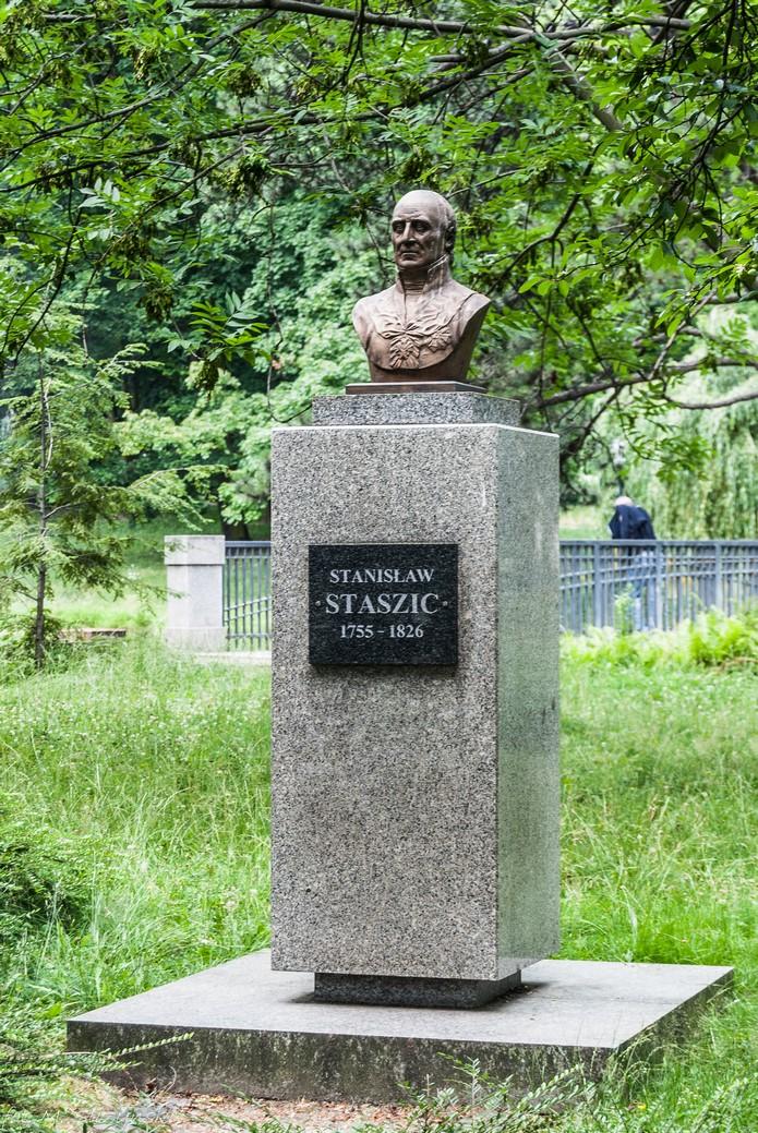 Częstochowa - Park Staszica pomnik staszica