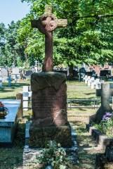 cmentarze w kielcach - cmentarz prawosławny i wojskowy czerwony grób z krzyżem