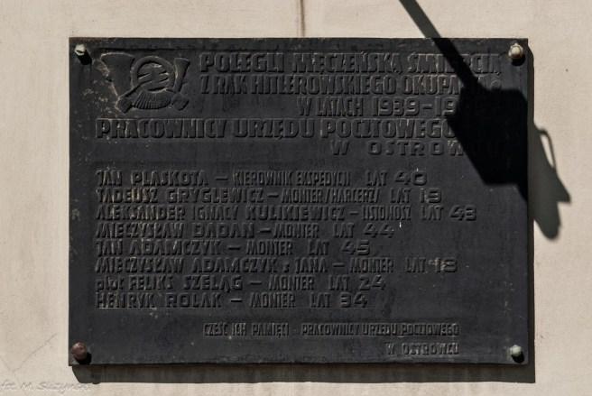 metalowa tablica pamiątkowa