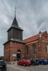 atrakcje malborka - kościół jana chrzciciela budynek