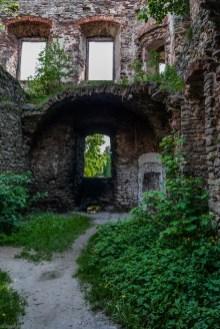 zieleń wdzierająca się do ruin