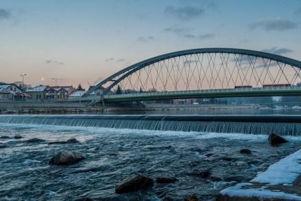 żywiec - zachód słońca nad rzeką soła