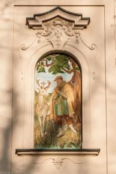 żywiec - zamek malowidło na ścianie