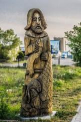 półwysep helski - drewniany pomnik władysławowo