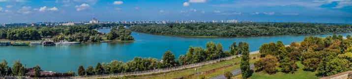 Kalemegdan - panorama Belgradu
