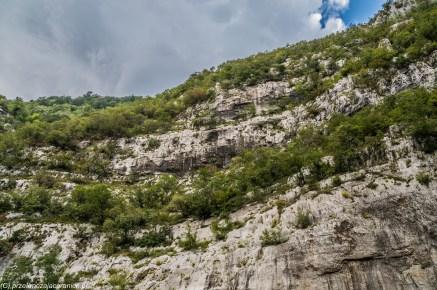 Kanion rzeki Moraca białe skały