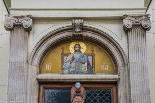 Sremski Kralovci cerkiew św. Mikołaja wejście