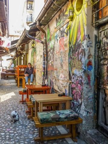 Bascarsija uliczka graffitti sarajewo