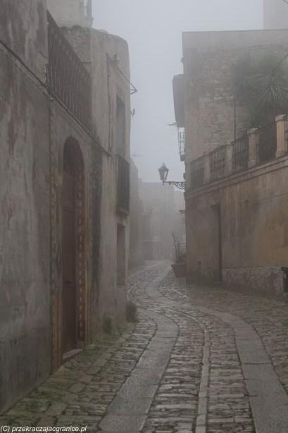 Sycylia - były mgły - mistyczne Erice