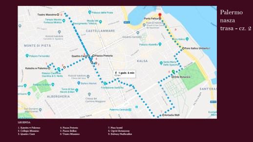 Palermo - mapka naszej wędrówki