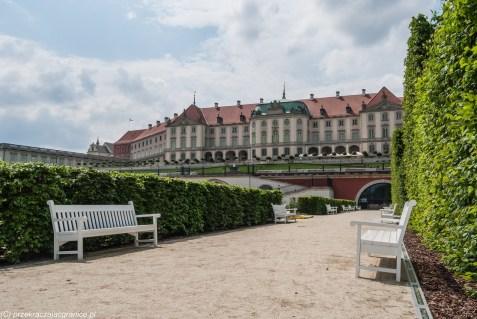 zamek i alejka parkowa