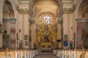 kościół wnętrza budynku ołtarz zdobienia architektura