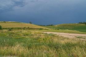 łąki i pola na górzystym terenie