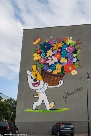 mural sztuka architektura suwałki reksio