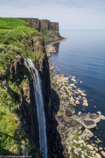 wodospad natura klify ocean