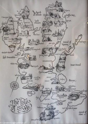 grafika przedstawiająca ważne punkty wyspy skye