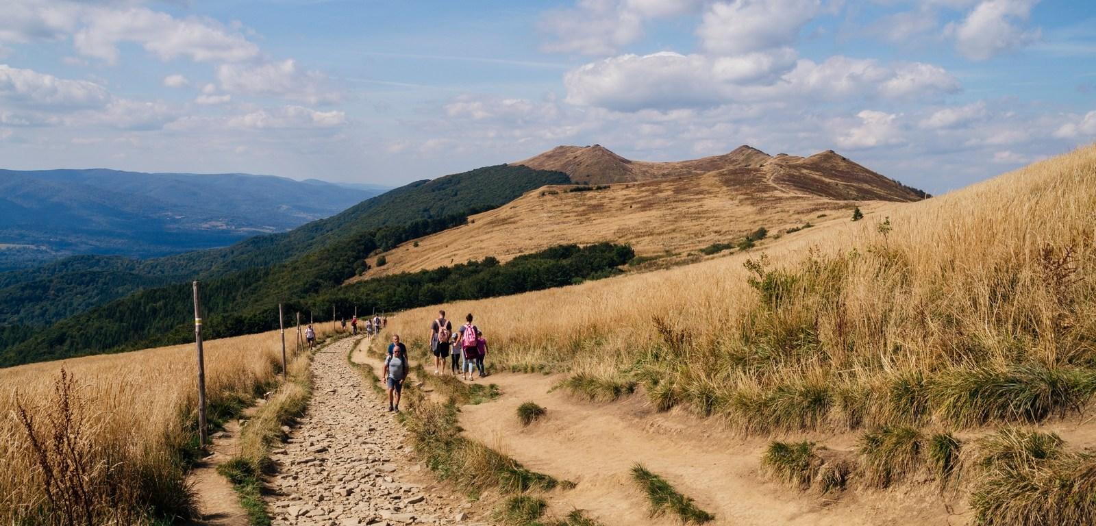 Na szlaku - połoniny w Bieszczadach