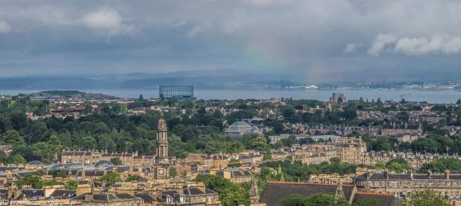 Calton Hill - panorama Edynburg'a