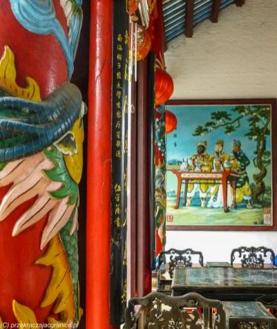 środkowy wietnam - hoi an wnętrze świątyni