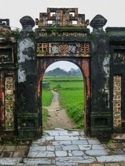 środkowy wietnam - hue cytadela architektura droga