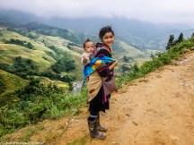 północny wietnam - sa pa kobieta z dzieckiem
