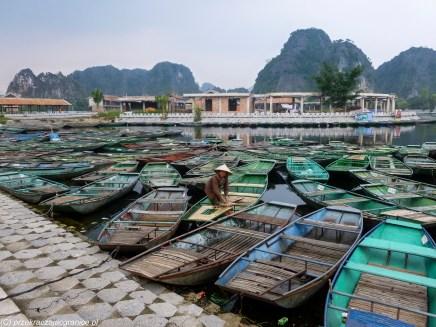 północny wietnam - tam coc łodzie krajobraz