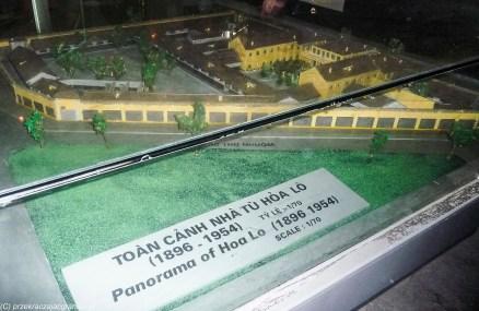 hanoi - więzienie hoa lo budynek panorama