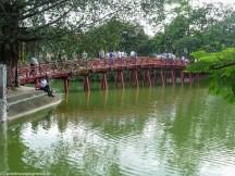 spacer po hanoi - czerwony most most wschodzącego słońca the huc