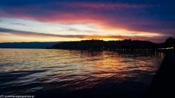 ochryda na weekend - zachód słońca nad jeziorem ochrydzkim
