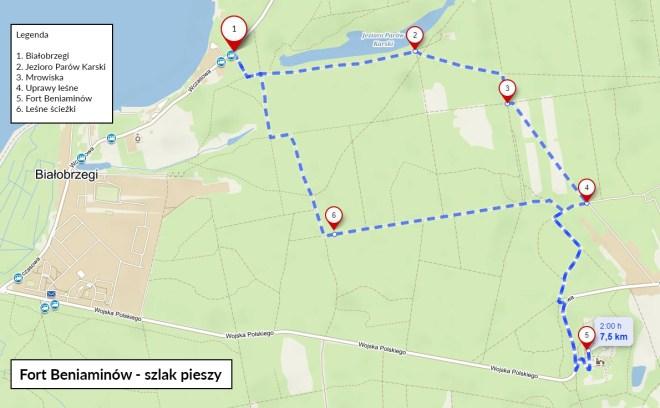 Fort Beniaminów - trasy piesze pod Warszawą