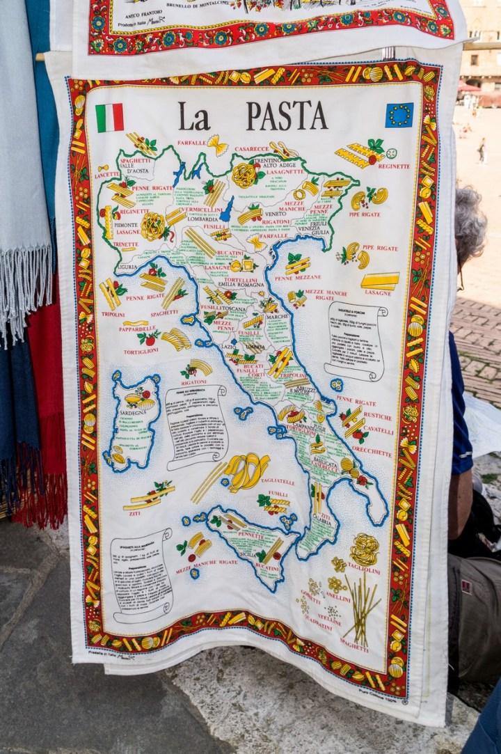 Siena - Piazza del Campo - wyroby rękodzieła