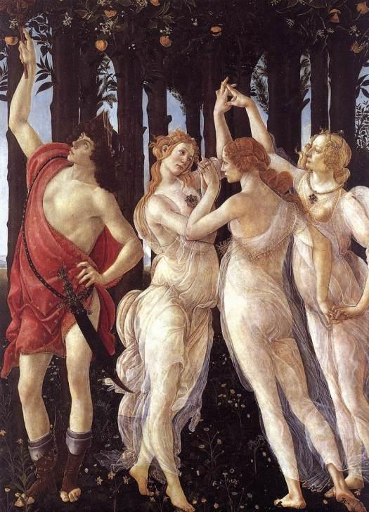 Trzy Gracje, Primavera, Botticelli