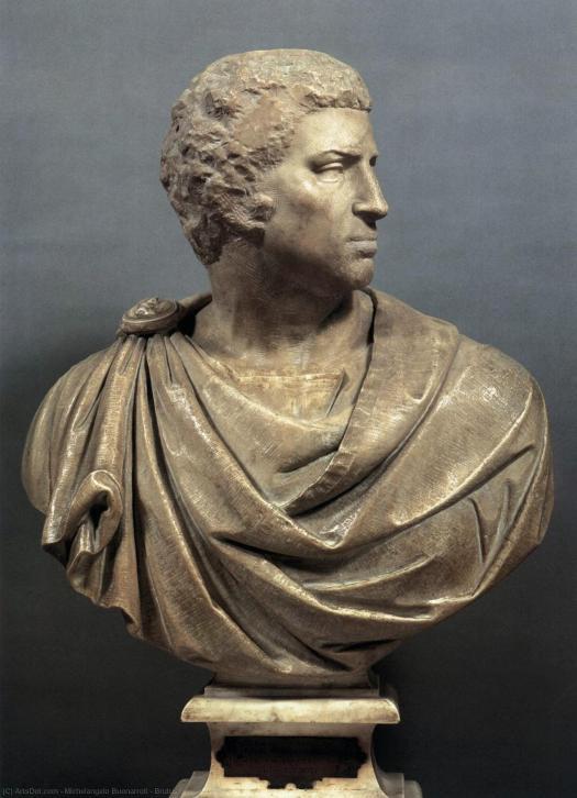 Michał Anioł, Brutus, Bargello, Florencja