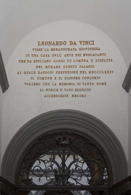 Palazzo Gondi napis