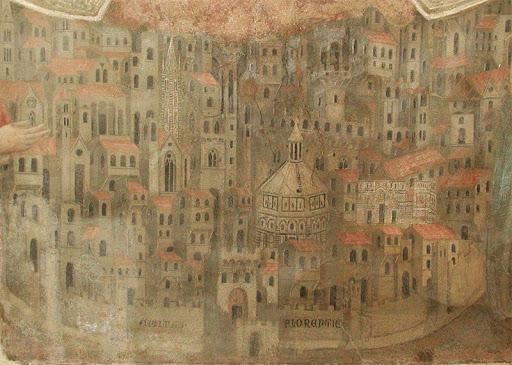 Fresk Florencja w 14 tym wieku, Muzeum Bigallo