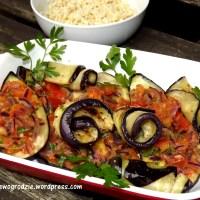 Bakłażan zapiekany z warzywami