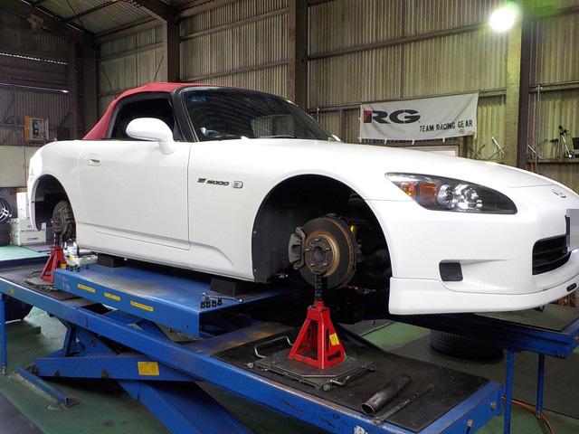 AP1 S2000の車高調整 1G締め直しと四輪アライメント